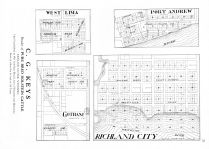 West Lima, Port Andrew, Gotham, Richland City, Richland County 1931